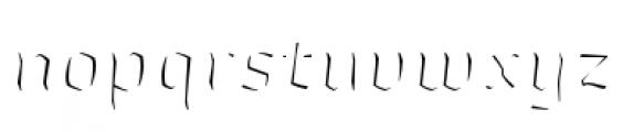 Whisky Italics 1890 Fill Italic Font LOWERCASE