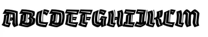 Whisky Italics 1890 Inline Italic Font UPPERCASE