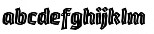 Whisky Italics 1890 Inline Italic Font LOWERCASE