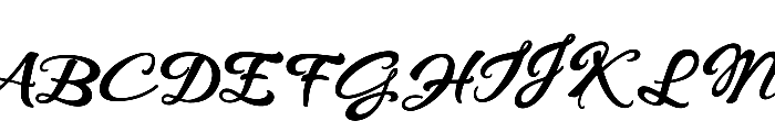 WHISPERS CALLIGRAPHY_DEMO_essential_BOLD Font UPPERCASE