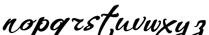 WHISPERS CALLIGRAPHY_DEMO_essential_BOLD Font LOWERCASE