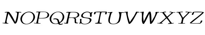 Whackadoo Upper Wide Italic Font UPPERCASE