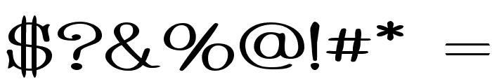 Whackadoo Upper Wide Font OTHER CHARS