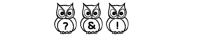 What a Hoot! Font OTHER CHARS