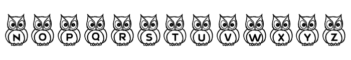 What a Hoot! Font UPPERCASE