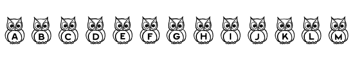 What a Hoot! Font LOWERCASE