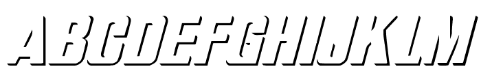WhatA-Relief Italic Font UPPERCASE