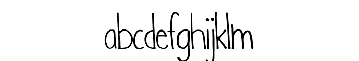WhenIwas-Regular Font LOWERCASE
