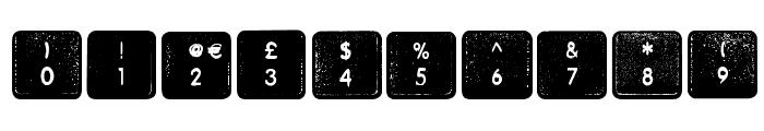Wheremykeys-Regular Font OTHER CHARS
