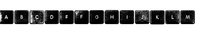 Wheremykeys-Regular Font UPPERCASE