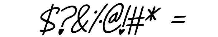 Whimsical Lovelies Italic Font OTHER CHARS