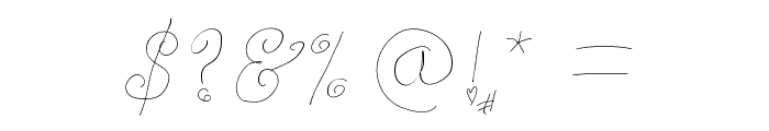 WhimsyWischy Font OTHER CHARS