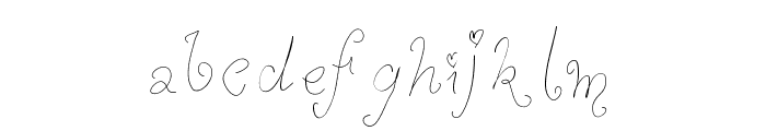 WhimsyWischy Font LOWERCASE