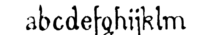 WhirlyWood Font LOWERCASE