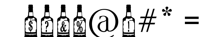 Whiskey Bottle Font OTHER CHARS