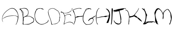 WhiskeyFingers-Regular Font UPPERCASE