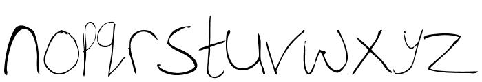 WhiskeyFingers-Regular Font LOWERCASE
