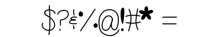 WhisperADream Font OTHER CHARS