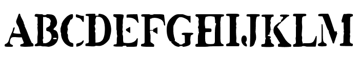 White Army Font UPPERCASE
