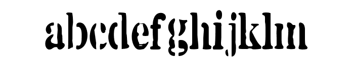 White Army Font LOWERCASE