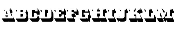 White Bold Font UPPERCASE