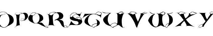 White Christmas Font UPPERCASE