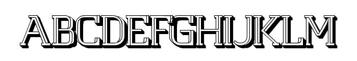 White Line Fever 3D 1.00 Font UPPERCASE