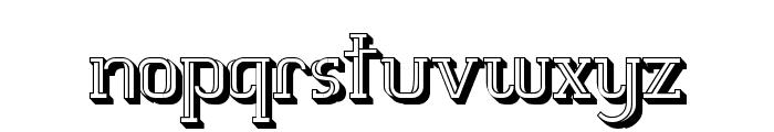 White Line Fever 3D 1.00 Font LOWERCASE