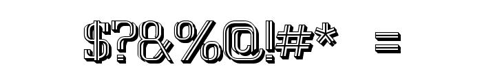 White Line Fever Light 3d 1.00 Font OTHER CHARS