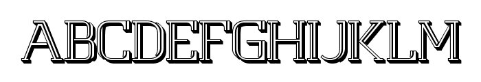 White Line Fever Light 3d 1.00 Font UPPERCASE
