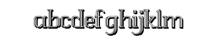 White Line Fever Light 3d 1.00 Font LOWERCASE