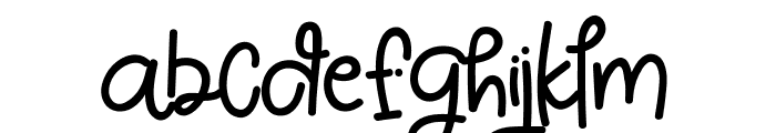 White Pinky Font LOWERCASE