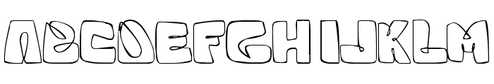 White Squared Font UPPERCASE