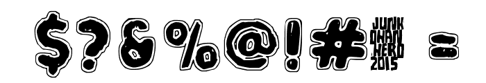 White Submarine Font OTHER CHARS