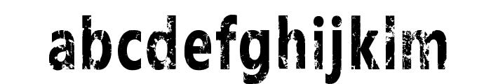 White funky rabbit Font LOWERCASE