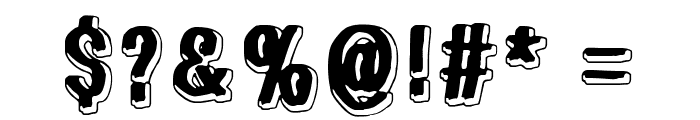 White light, black line Font OTHER CHARS