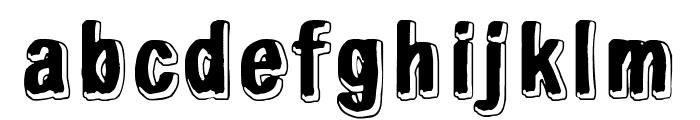 White light, black line Font LOWERCASE