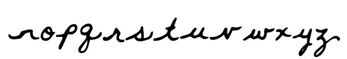 Whitemouse Font LOWERCASE