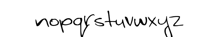 WhiteyFord Font LOWERCASE