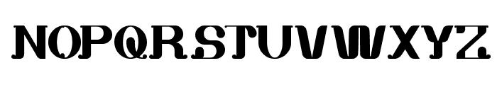 white sock Font UPPERCASE