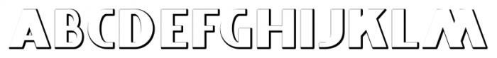 Whitehaven Condensed Embossed Font UPPERCASE