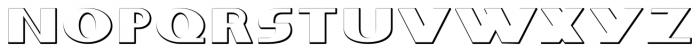 Whitehaven Embossed Font UPPERCASE