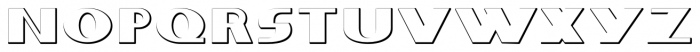 Whitehaven Embossed Font LOWERCASE