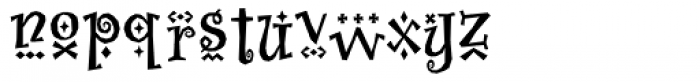 Whimsy Baroque ICG Bold Font LOWERCASE