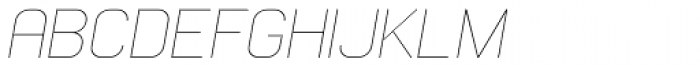 Whinter Oblique Thin Font UPPERCASE