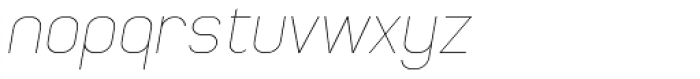 Whinter Oblique Thin Font LOWERCASE