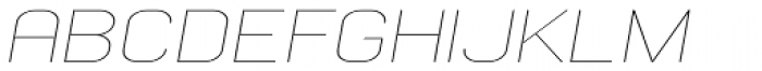 Whinter Thin Wide Oblique Font UPPERCASE