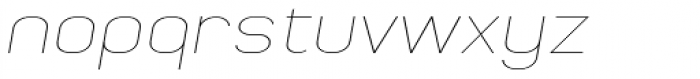 Whinter Thin Wide Oblique Font LOWERCASE
