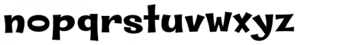 Whipsnapper Extra Wide Black Font LOWERCASE