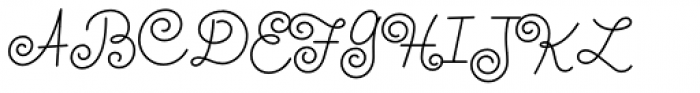 Whirled Peas NF Font UPPERCASE